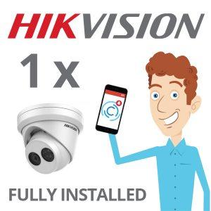 1 x Hikvision Camera Installed