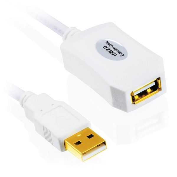 10m USB Cable – White