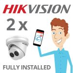 2 x Hikvision Camera with Darkfighter Installed