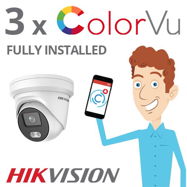 Hikvision ColorVu CCTV System Installed