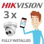3 x Hikvision Camera Installed