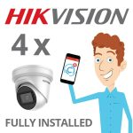 4 x Hikvision Camera with Darkfighter Installed