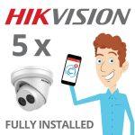 5 x Hikvision Camera Installed