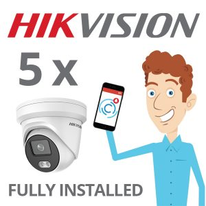 5 x Hikvision Camera with ColorVu Installed