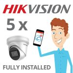 5 x Hikvision Camera with Darkfighter Installed