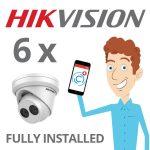 6 x Hikvision Camera Installed