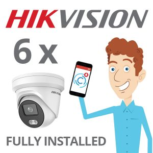 6 x Hikvision Camera with ColorVu Installed