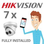 7 x Hikvision Camera Installed