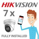 7 x Hikvision Camera with Darkfighter Installed