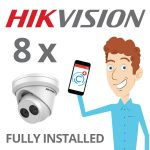 8 x Hikvision Camera Installed