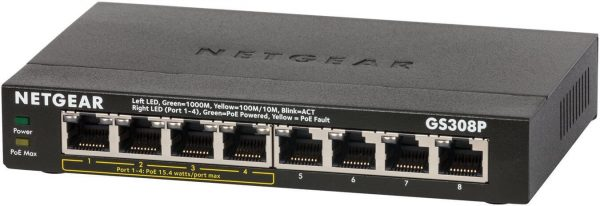 NETGEAR GS308P-100UKS 8-Port Gigabit Switch