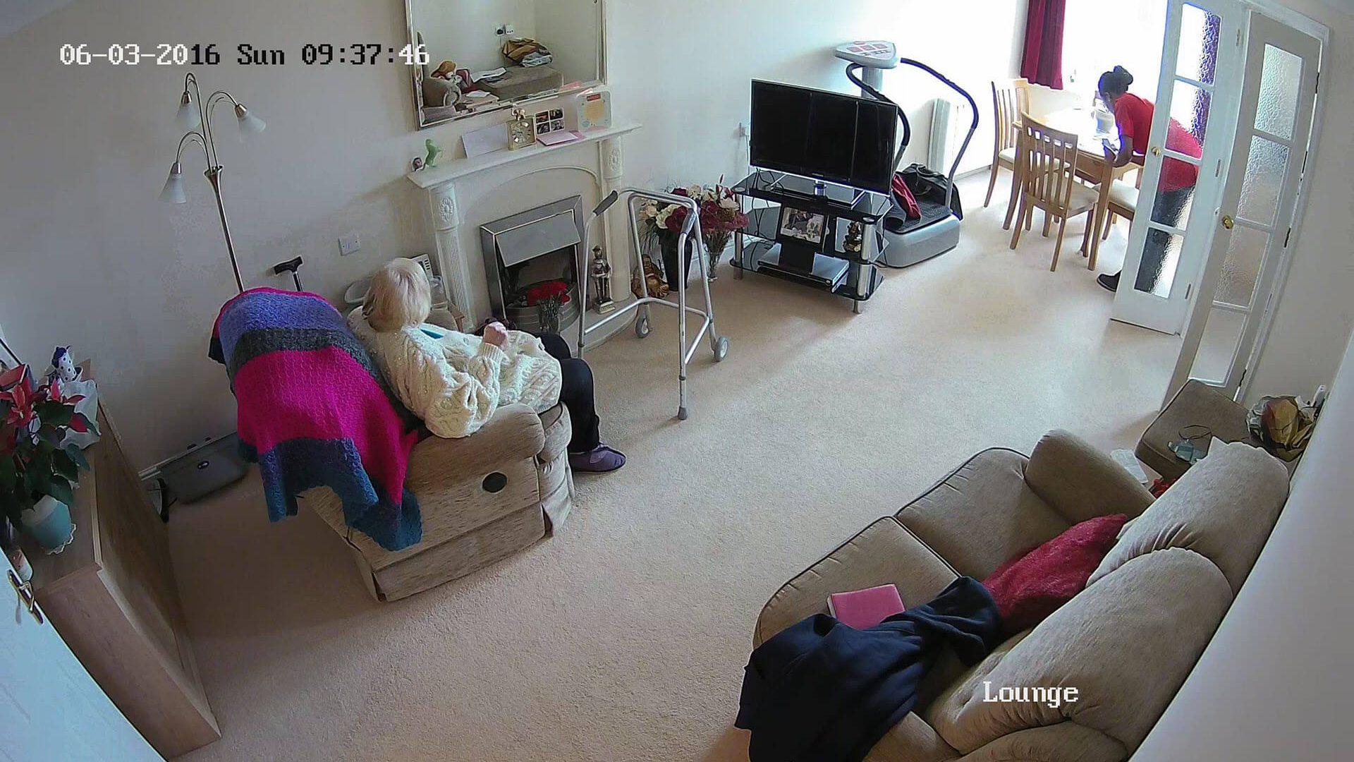 CCTV for carers or elderly (Lounge)