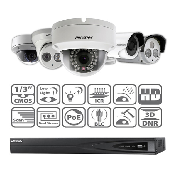 2 Camera Hikvision 4MP Digital IP CCTV System - CCTV Aware